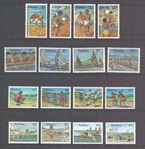 Tokelau Scott 65/80 - SG65/80, 1978-80 Sports Sets MH*