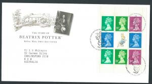 GB QEII 1993 Machins Booklet Pane X1012m  VFU Beatrix Potter