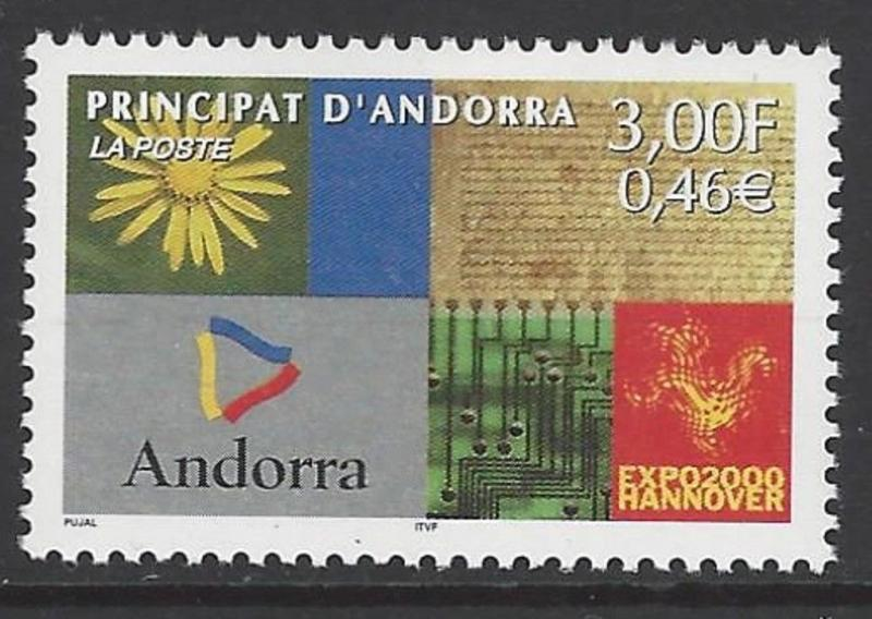 Andorra French 2000 Expo Hanover VF MNH (527)