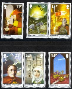 Guernsey Sc# 356-361 (incl se-tenet pairs) MNH 1987 Definitives