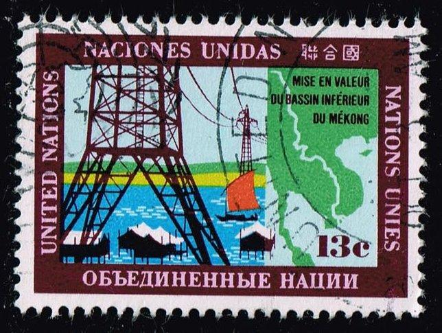 UN New York #206 Power Lines; Used (0.25)
