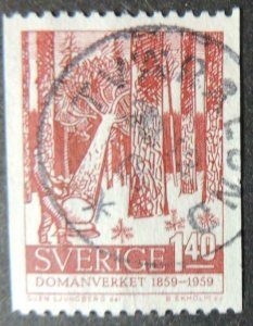 Sweden 1959 crown lands and forests centenary used