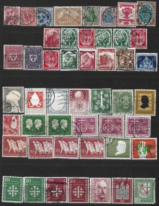COLLECTION LOT OF #586 GERMANY 48 STAMPS 1880+ CV=$ 94 CLEARANCE