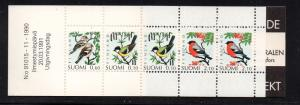 Finland Sc 856a 1990 Birds stamp booklet mint NH