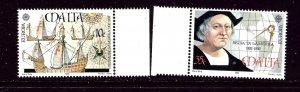 Malta 797-98 MNH 1992 Discovery of America    (ap4004)