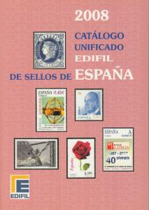 Edifil 2008 Spain stamps and postal stationery, full color, priced in €uros, NEW