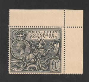 Great Britain #209 (SG #438) EF MNH - 1929 £1 UPU - KGVI