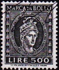 Italy. Date? 500L (Marca Da Bollo).Fine Used