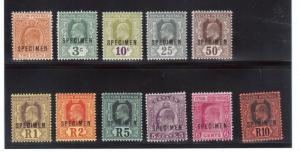Ceylon #178s / #199s (SG #289s - #300s) Very Fine Mint Set Full Original Gum
