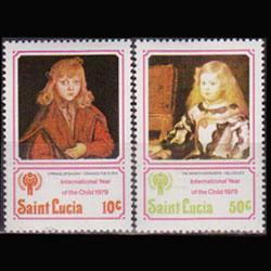 ST.LUCIA 1979 - Scott# 473-4 Children Year 10-50c NH