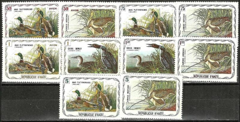 HAITI 10 ILLUSTRATED DUCK  Stamp Set WYSIWYG Lot (TA2161983)