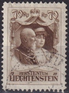 Liechtenstein #93 F-VF Used CV $110.00 (V4594)