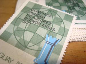 WHOLESALE WORLD CHESS OLYMPICS 1978 URUGUAY Sc#1022c MNH X50 CAT. VALUE $400