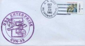 1939 CHRISTMAS 1981 - U/O USS ENTERPRISE