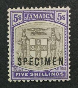 MOMEN: JAMAICA SG #45s 1905 SPECIMEN MINT OG H LOT #191444-564