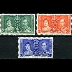 K.U.T. 1937 - Scott# 60-2 Coronation Set of 3 NH