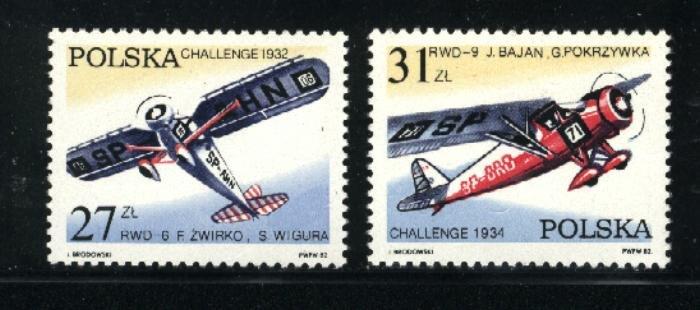 Poland 2515-16   Mint VF NH  1982 PD
