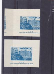 Romania 1945, 10 february  Carol I foundation, MS, MNH, WWII, ERROR, library