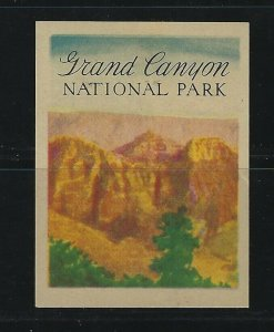 UNITED STATES - GRAND CANYON NATIONAL PARK POSTER STAMP MNH