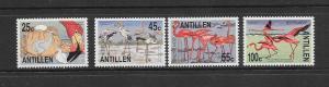 BIRDS - NETHERLANDS ANTILLES-FLAMINGOS #527-30  MNH