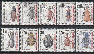 1986 St. Pierre and Miquelon - Sc J83-92 - MNH VF - 10 single - Insects