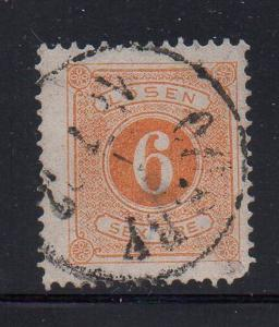 Sweden Sc J15 1877 6 ore postage due stamp used