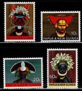 PNG Papua New Guinea Scott 253-256 Headdress set