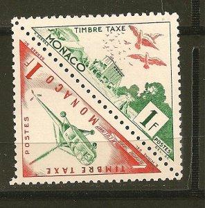 Monaco J39 & J48 Postal Tax Setenant Pair Triangles MNH