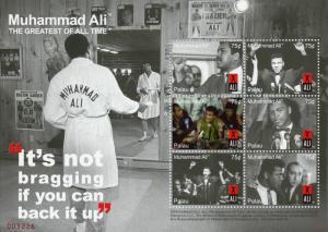Palau Boxing Stamps 2008 MNH Muhammad Ali Famous People Sports 6v M/S I