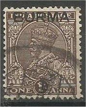 BURMA, 1937, used 1a, Overprinted, Scott 4