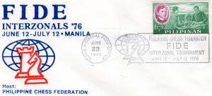 Philippines 1976  FIDE INTERZONALS'76 CHESS MANILA Special Postmark June 23