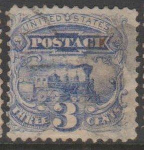 U.S. Scott #114 Locomotive Stamp - Used Single - IND