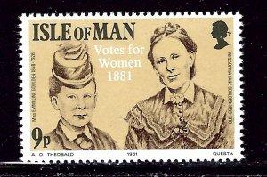 Isle of Man 197 MNH 1981 Women's Suffrage    (ap2999)