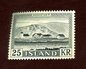 ICELAND #305 MINT FVF OG LH Cat $30