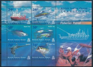 [I1095] BIOT Marina Life good sheet very fine MNH