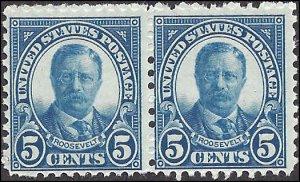 637 Mint,OG,NH... Pair... SCV $6.00