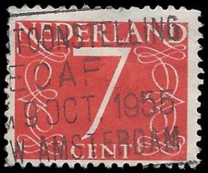Netherlands #343 1953 Used