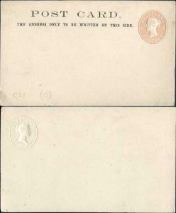 QV 1/2d Pink Post card