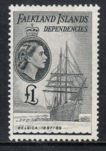 Falkland Island Dependencies #1L33 Mint Fine - Very Fine Original Gum Hinged