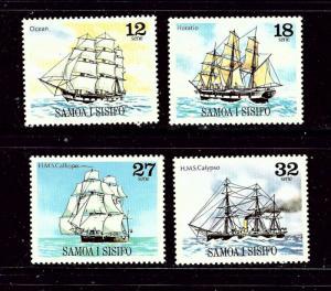Samoa 543-46 MNH 1981 Sailing Ships