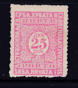 Yugoslavia a MNH 25d Post Due from 1921