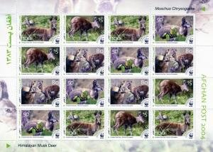 WWF Himalayan Musk Deer Sheet (16v) Perforated Mint (NH)