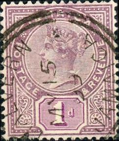 Jamaica #24 1p Queen Victoria Used/H