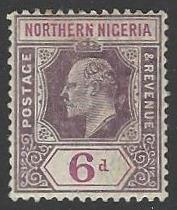 Northern Nigeria #34 Mint Hinged Single Stamp (H2)