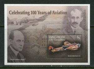 St. Vincent Grenadines MNH S/S 100th Anniversary Of Aviation Wright Bros.
