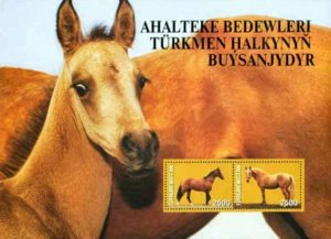 2005 Akhal-Teke Horses Minisheet Exclusive Stamps of Turkmenistan