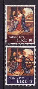 Ireland-Sc#423-4-used-Paintings-Christmas-1977-