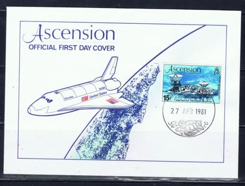 Ascension 1981 First Day Cover showing Space Shuttle