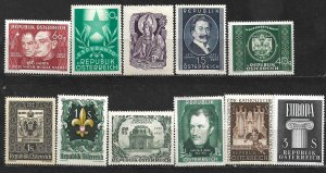 COLLECTION LOT OF 11 AUSTRIA 1948+ MH STAMPS CV+ $39