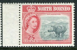 NORTH BORNEO; 1961 early QEII issue fine Mint hinged Marginal value, 25c